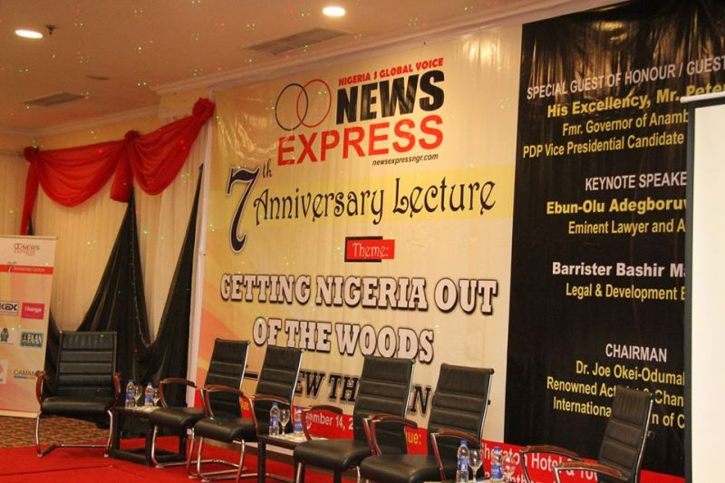IMAGES OF 7TH NEWS EXPRESS ANNIVERSARY LECTURE.