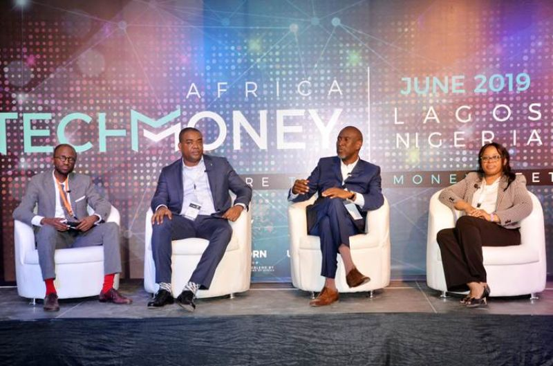 L-R: Co-founder and Partner, Verod Capital Management Limited, Eric Idiahi; Chief Operations and Information Officer, Fidelity Bank Plc, Gbolahan Joshua; Managing Partner, Synergy Capital Managers, Dr Akintoye Akindele, Managing Partner, Sefton Fross, Olayemi Anyanechi at the TechMoney Africa 2019 Conference which took place at the University of Lagos, Akoka . . . Monday, June 10, 2019.