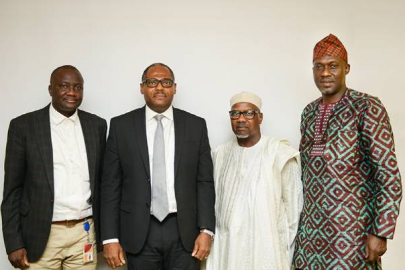 L–R: External Relations Manager, Shell Nigeria Gas (SNG), Tunde Olaleke; SNG's Managing Director, Ed Ubong; President, Manufacturers Association of Nigeria (MAN); Mansur Ahmed; and MAN's Director General, Segun Ajayi-Kadir, during a visit to SNG to discuss cleaner, reliable and affordable energy supply to industries and manufacturing plants in Nigeria . . . in June 2019.