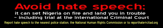 Hate speech banner