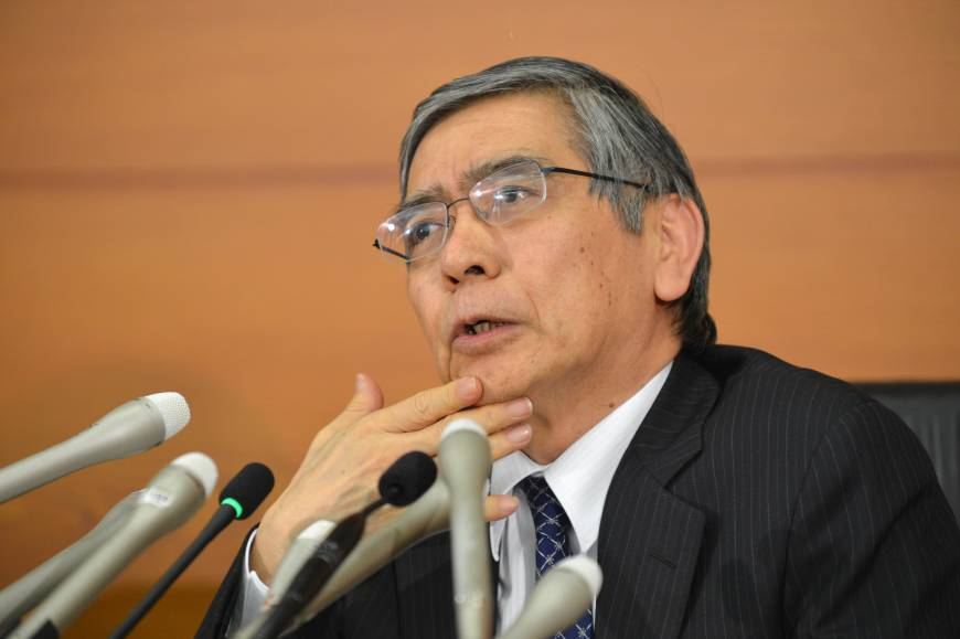 • Bank of Japan Governor Haruhiko Kuroda