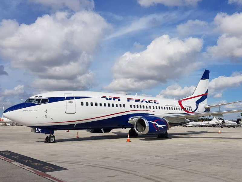 •Air Peace flight