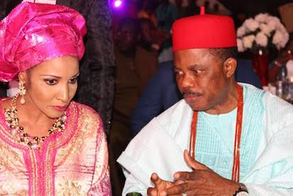 •Anambra State Governor Obiano and Mrs. Ojukwu