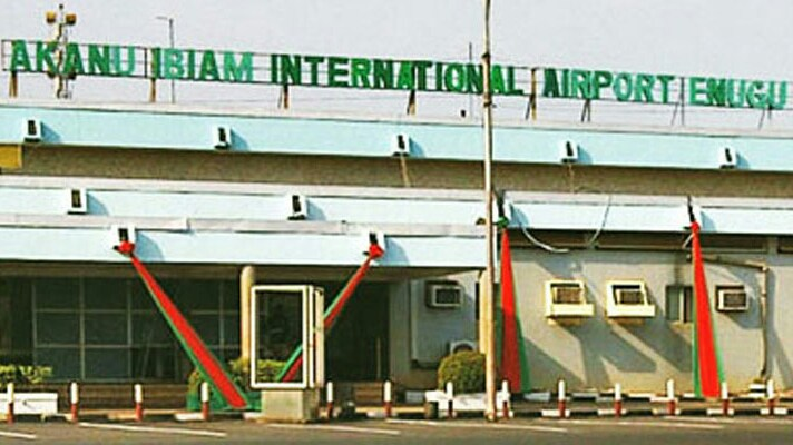 •Front view of the domestic wing of Akanu-Ibiam International Airport Enugu