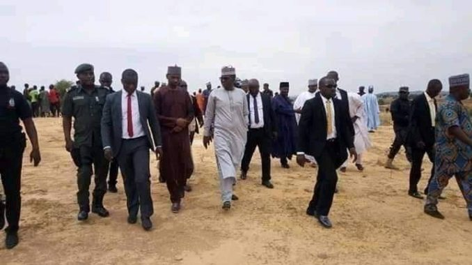 •Governor Matawalle during the tour of a bandits-ravaged community after his inauguration