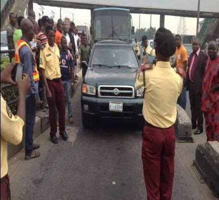 •LASTMA officials at work