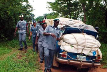 •Nigeria Customs officers on duty