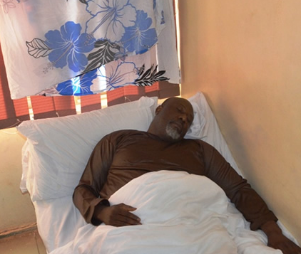 •Senator Dino Melaye on sick bed in custody