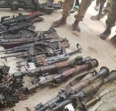•Some of the items recovered from the terrorists