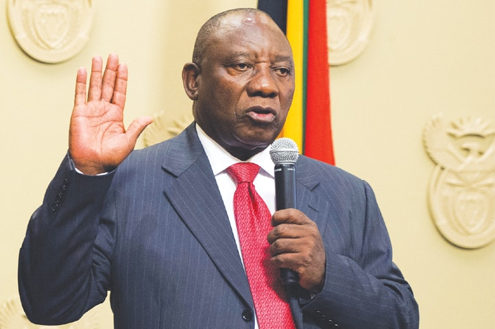 •South African President ,Cyril Ramaphosa