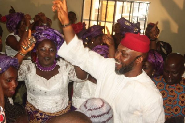 •Chidoka acknowledging cheers from his supporters.