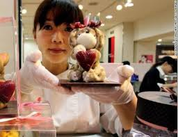 •A Japanese woman on Valentine's Day