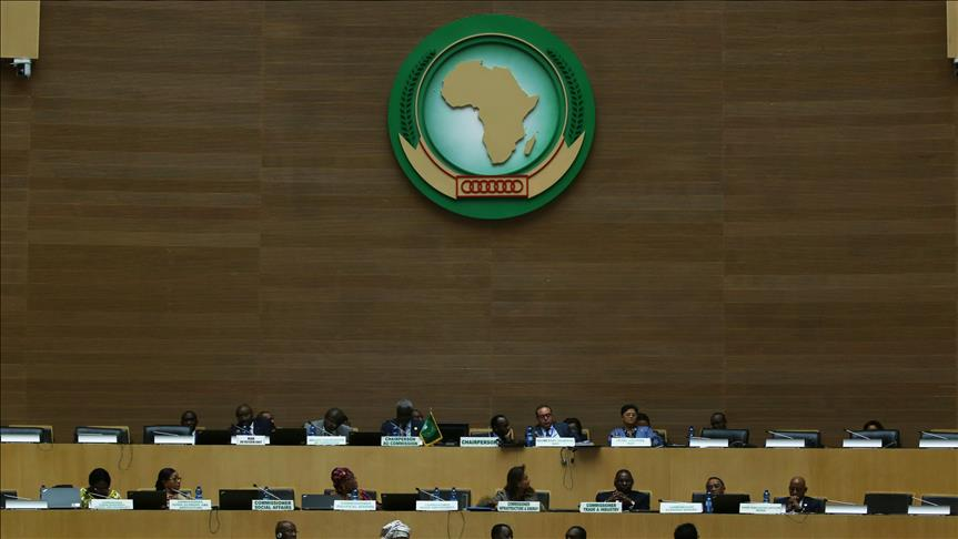 •A cross section of African leaders at the Summit in Ethiopia