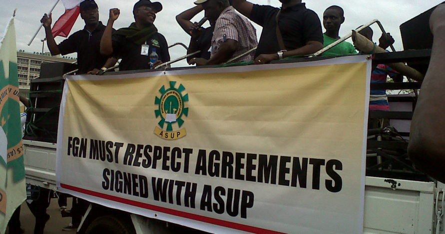 • ASUP protesters