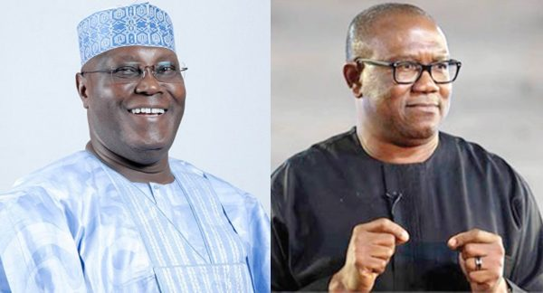 •PDP Presidential candidate Atiku and running mate, Peter obi