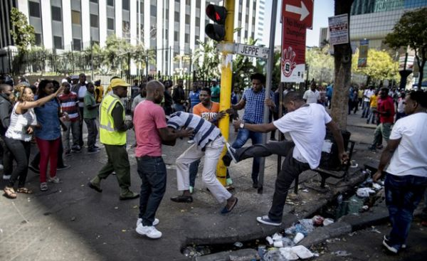 •A Nigerian attacked by South Africans