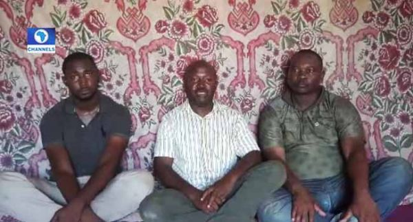 •Prof. Solomon Yusuf and two other colleagues as appeared in a Boko Haram video.
