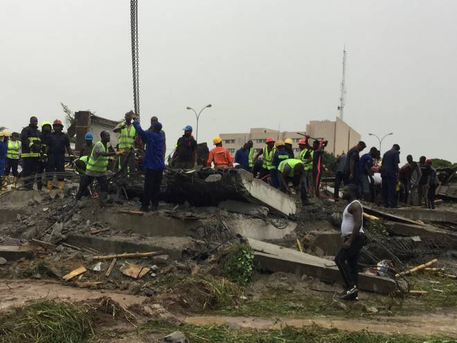 •Collapsed building in Abuja