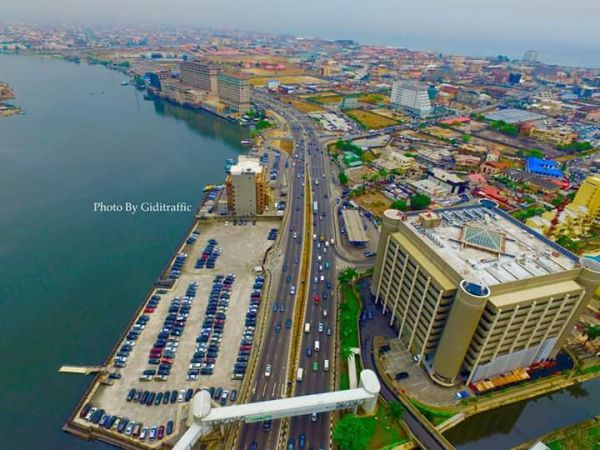 •Aerial view of Lagos