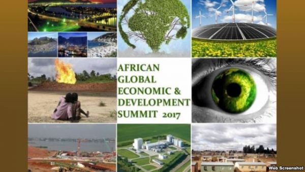•A screenshot shows a portion of the home page for the African Global Economic and Development Sum