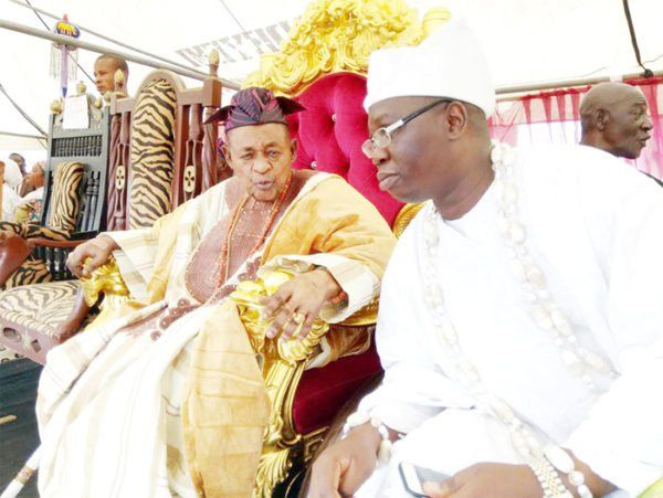 •Alafin of Oyo and Otunba Gani Adams