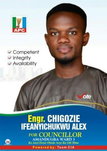Let's give our future a chance: A case for Alex Ifeanyichukwu as Councillor for Umudurueze-Amandugba, By Austin Echefu