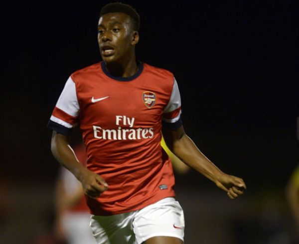 •Arsenal's Nigerian star Alex Iwobi in action