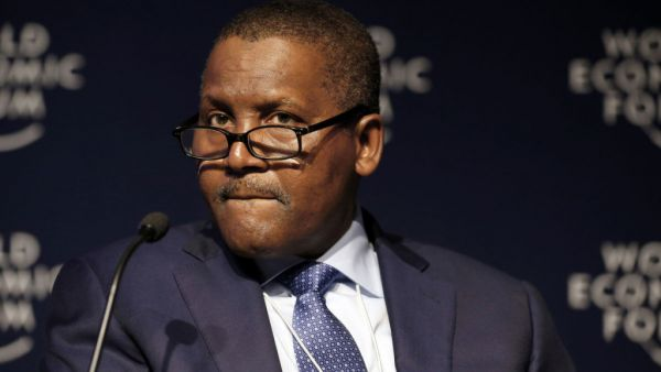 •Business mogul Aliko Dangote.