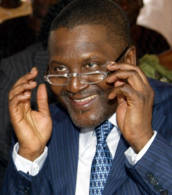 •Africa's richest man Aliko Dangote