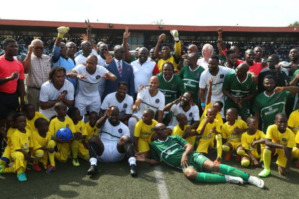 •Ambode with the African and Nigerian soccer legends and coaches