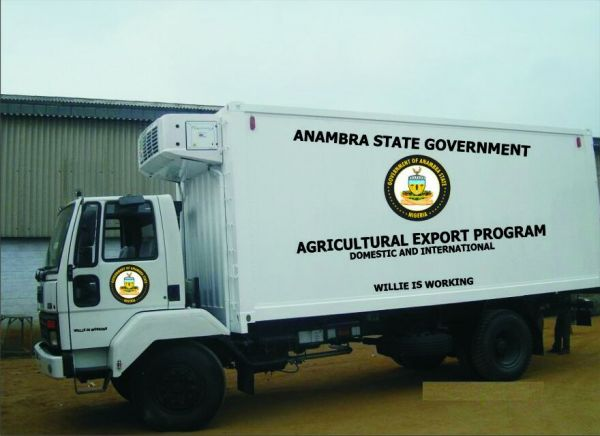 •Anambra cargo export project cool van on display.