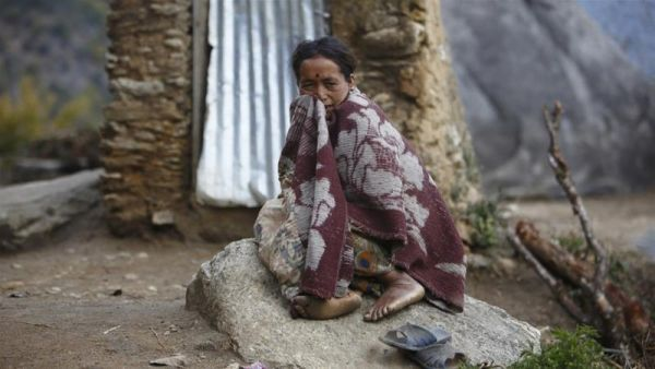 •A menstruating woman banished in Nepal. Photo: Reuters.
