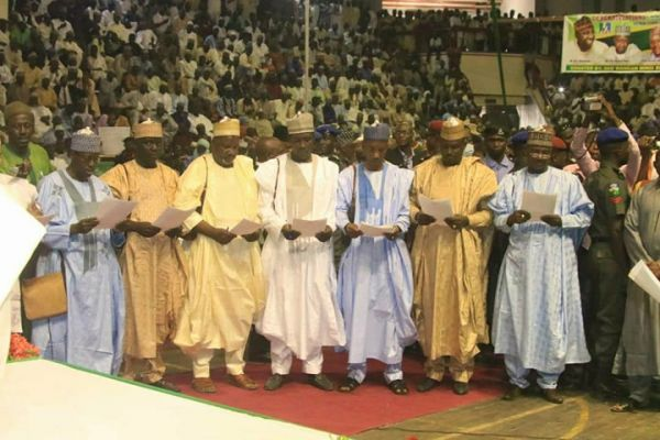•A cross section of the newly sworn-in commissioners taking their oath of office on Wednesday