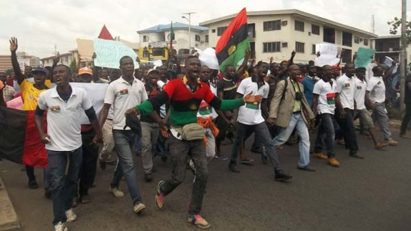•Pro-Biafra procession