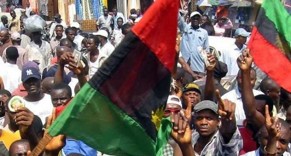 Pro-Biafra activists during one of their peaceful protests.