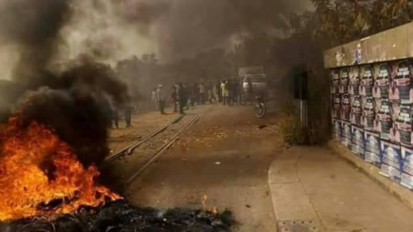 •Bonfire by protesting Benue youths