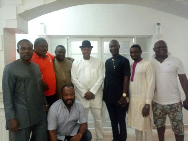 •Amnesty Programme Coordinator Paul Boroh with some ex-militant leaders.