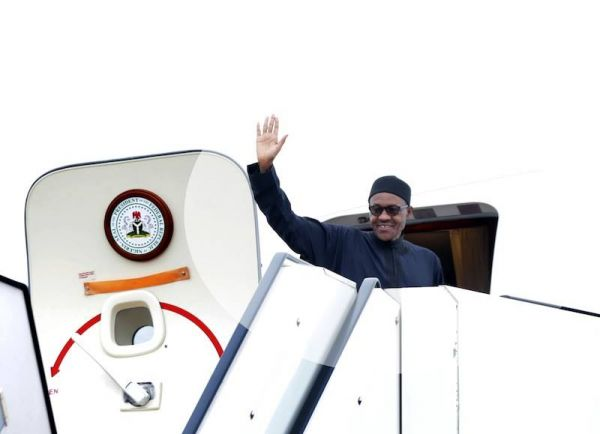 •President Buhari departing for a previous foreign trip