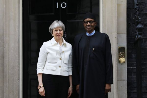 •President Buhari and British Prime Minister Theresa May