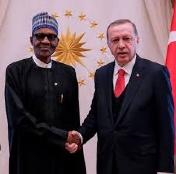 •Presidents Buhari and Erdogan holding talks