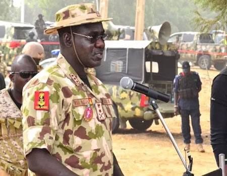•Chief of Army Staff Gen. Tukur Buratai