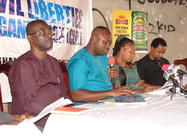 Members of CLO Zonal Management Committee during the world press conference in Onitsha.