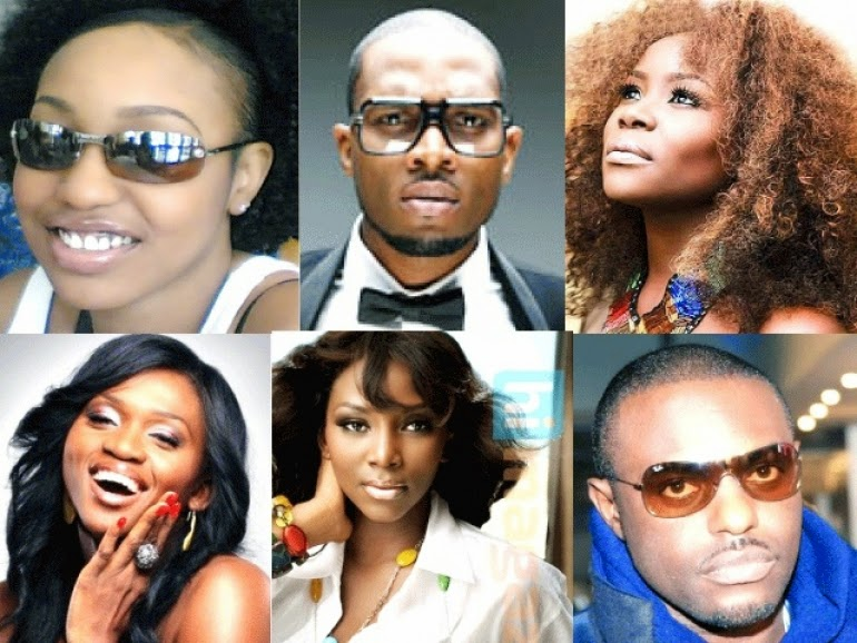 •Some of Nigeria's showbiz stars