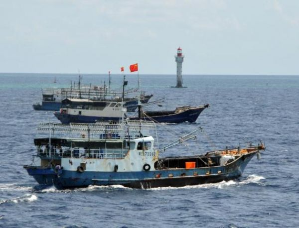 •Chinese fishing vessel.