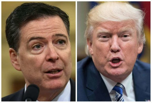 •US President Donald Trump and former FBI director James Comey