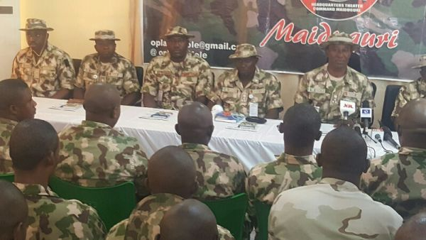 •A Nigerian Army court martial in session.