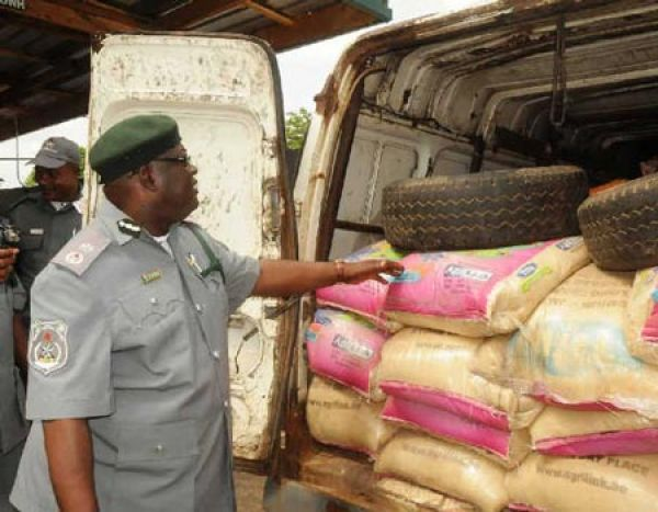 •Customs impound smuggled rice