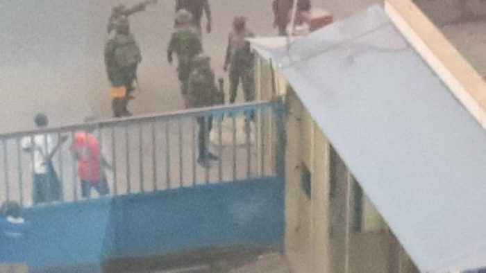 •Soldiers at Daily Trust HQ during the occupation