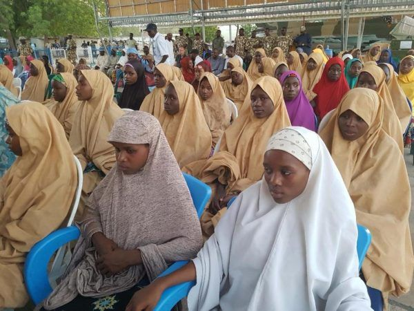 •The abducted Dapchi schoolgirls after their release by Boko Haram