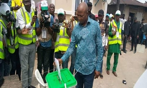 BREAKING: APC in early lead in Bayelsa governorship election